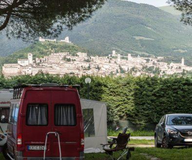 foto quadrata camping